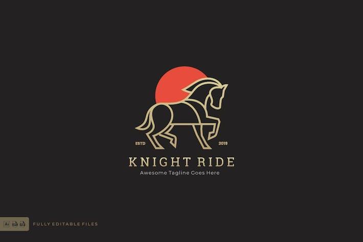 Thumbnail for Horse Line art Style Logo Template
