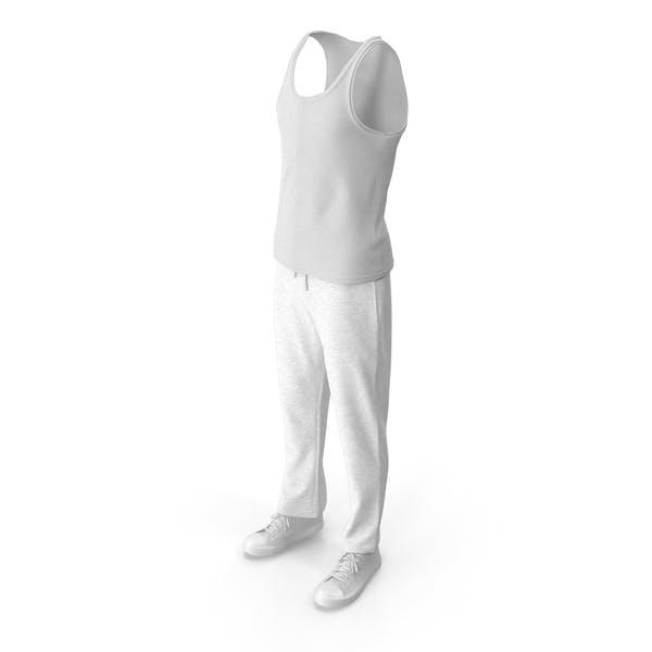 Мужская спортивная одежда Белый