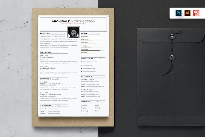 Thumbnail for Resume CV Template-65