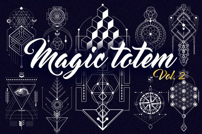 Cover Image For Sacred Geometry. Magic totem vol.2