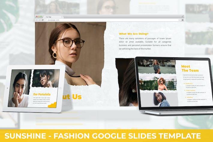 Thumbnail for Sunshine - Fashion Google Slides Template