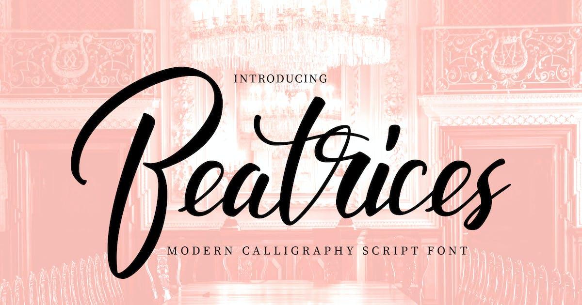 Download Beatrices | Modern Calligraphy Script Font by Vunira