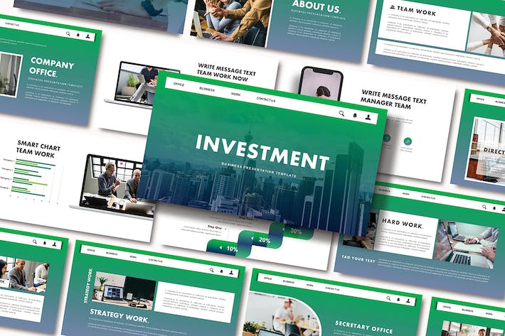 Thumbnail for INVESTMENT - Business Google Slides Template