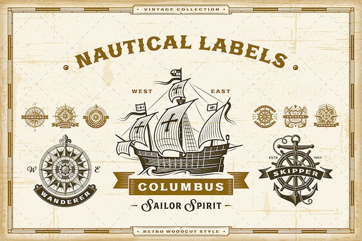 Thumbnail for Vintage Nautical Labels Collection