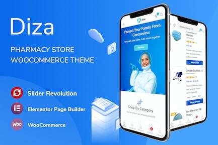 Diza - Apotheke Shop Elementor WooCommerce Thema