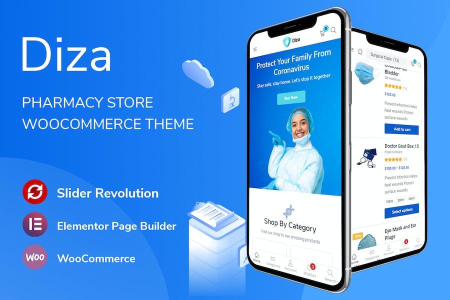 Diza - Farmacia tienda Elementor WooCommerce Tema