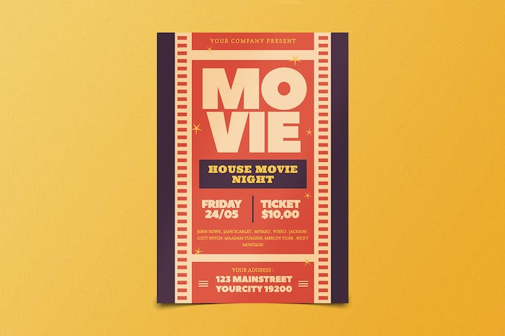 Thumbnail for Movie Night Flyer
