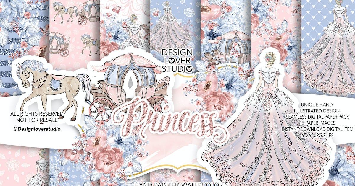 Download Princess digital paper pack by designloverstudio