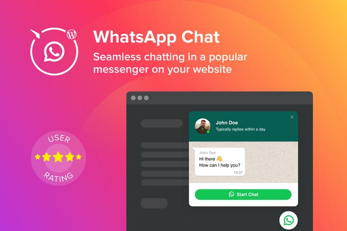 Thumbnail for WordPress WhatsApp Chat Plugin