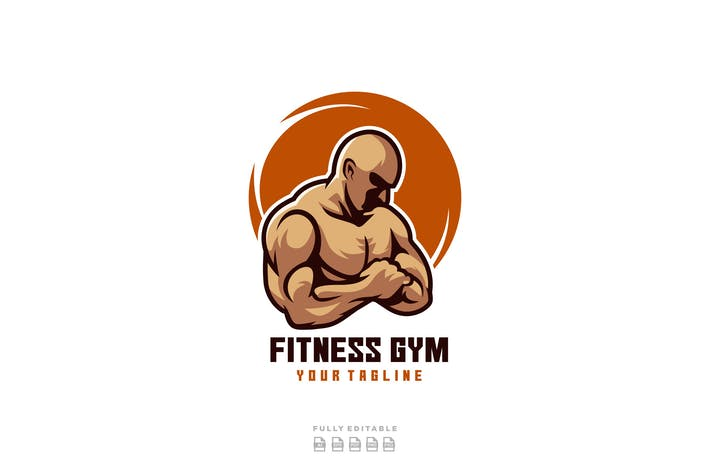 Thumbnail for Fitness Gym Body Building Logo
