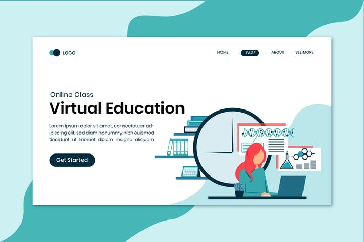 Thumbnail for Virtual Education Online Landing Page