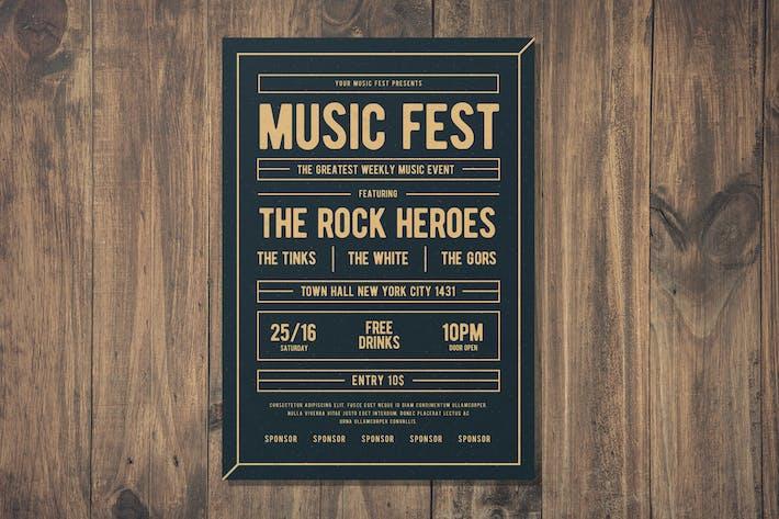 Thumbnail for Musik Fest Flyer