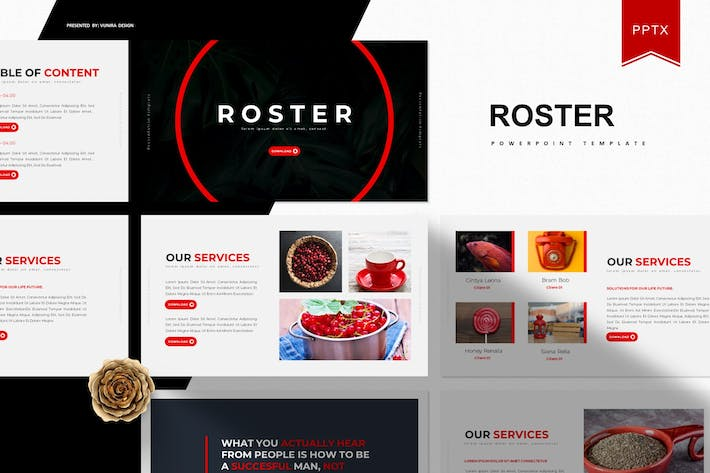 Thumbnail for Roster | Powerpoint Template