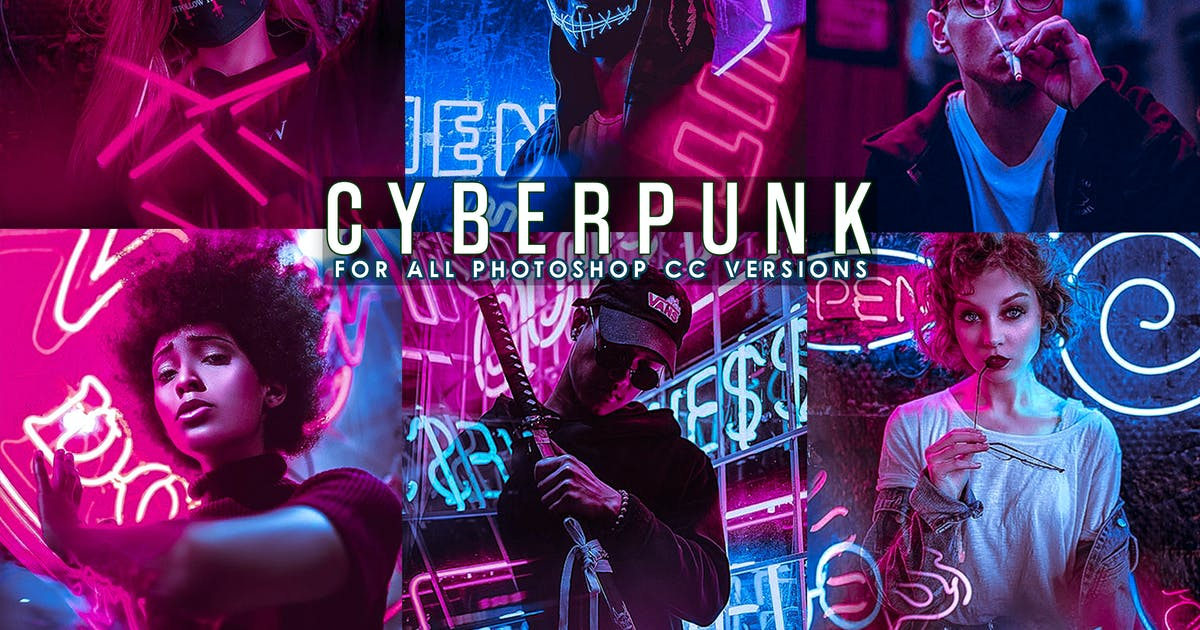 Download Cyberpunk - Life Styles Photoshop Action by 2lagus