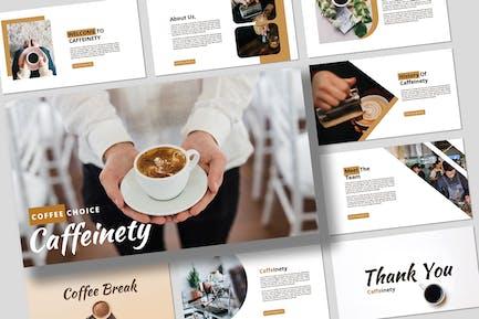 Кофе - Бизнес Powerpoint Презентация