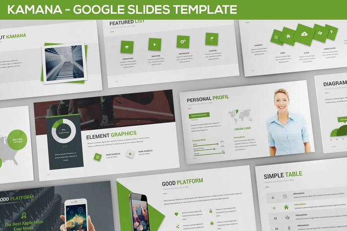 Thumbnail for Kamana Google Slides Template