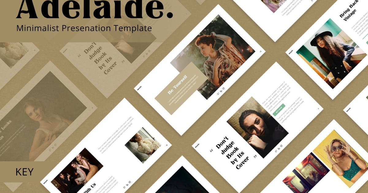 Download Adelaide - Retro Keynote Template by jegtheme