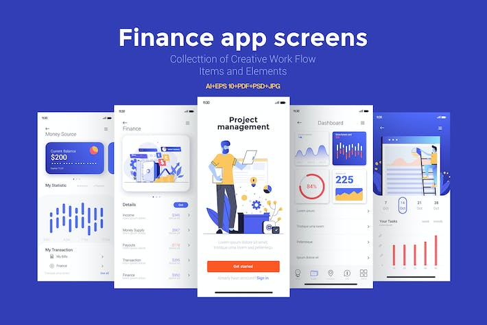 Thumbnail for 15 Finance app Screens