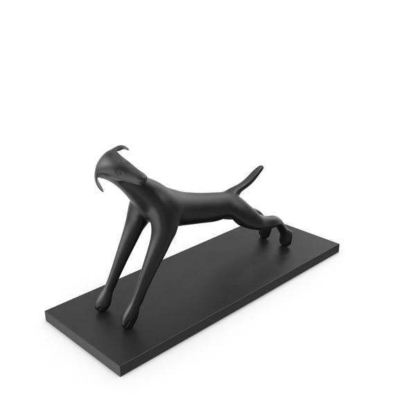 Black Dog Sculpture