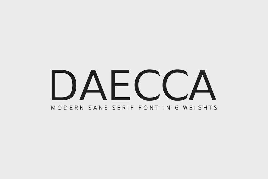 Daecca Sans Con serifa Familia tipográfica