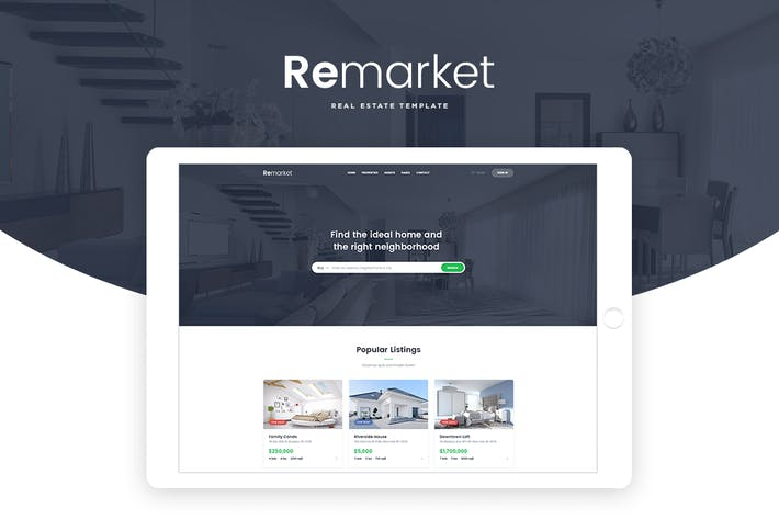 Thumbnail for Remarket - Real Estate Template