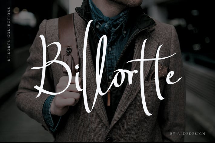Thumbnail for Billorte - Two Signature Fonts