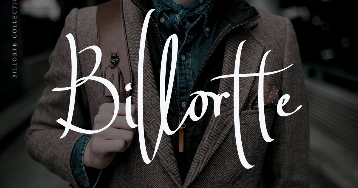 Download Billorte - Two Signature Fonts by aldedesign