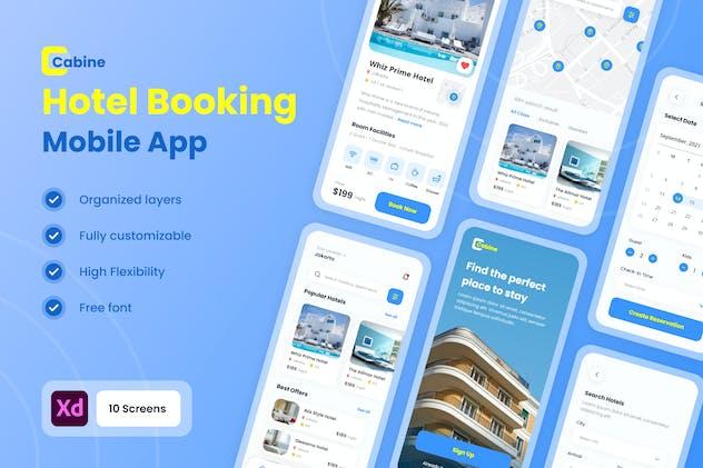 Cabine - Hotel & Resort Booking Mobile App UI Kit