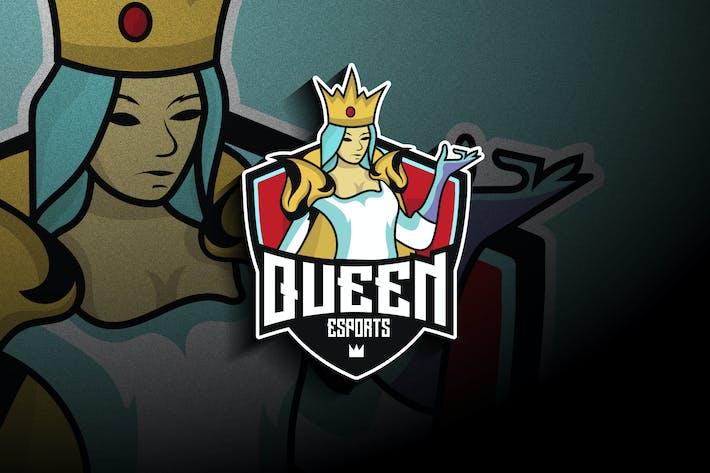 Queen Esports - Mascot & Esport Logo