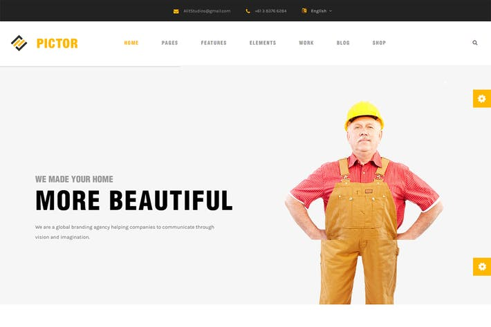 Cover Image For Pictor - Html Construction, Building And Business