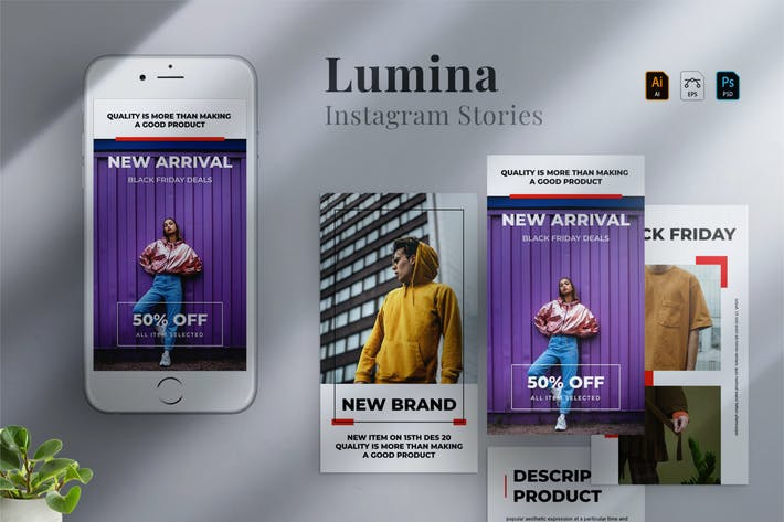 Thumbnail for Lumina - Instagram stories Template 05