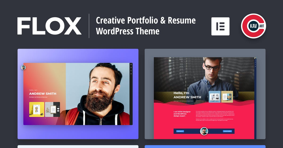 Download FLOX - Personal Portfolio & Resume WordPress Theme by C-Kav