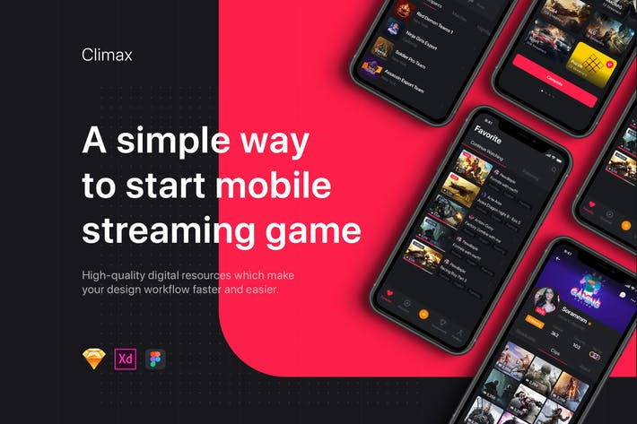 Thumbnail for Climax - Live Game Streaming UI Kit
