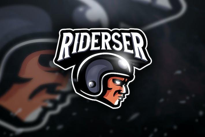 Thumbnail for Riderser - Mascot & Sport Logo