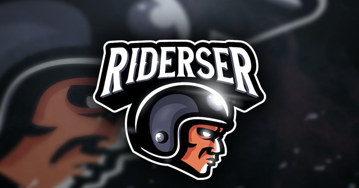 Riderser - Mascot & Sport Logo by aqrstudio