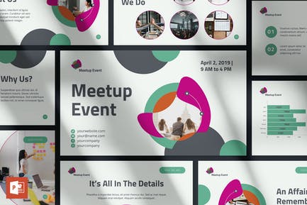 Шаблон презентации PowerPoint для мероприятия Meetup