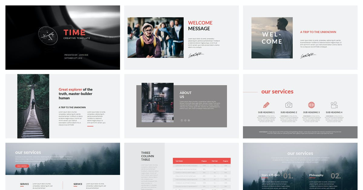 Download Time Keynote Template by graphix_shiv