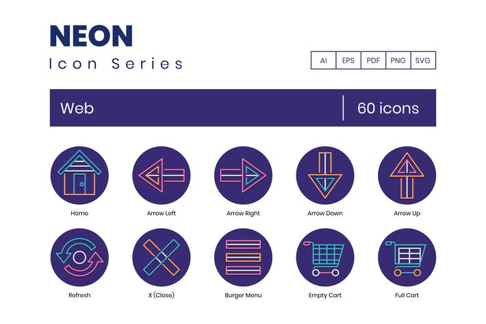 Thumbnail for 60 Web Line Icons