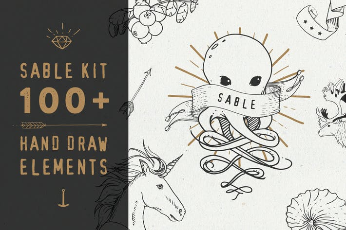 Cover Image For Sable Kit - hand drawn collection