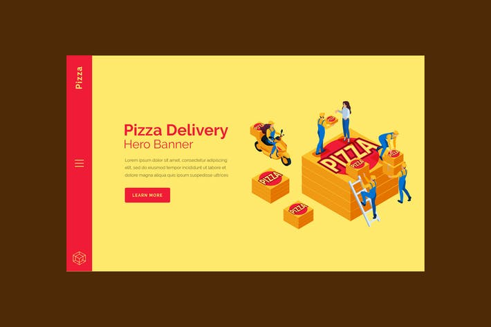Thumbnail for Pizza - Hero Banner Template