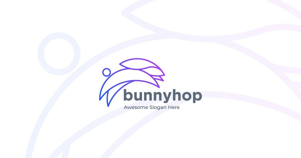 Download Bunny Jump Line Art Style Logo Template by ivan_artnivora