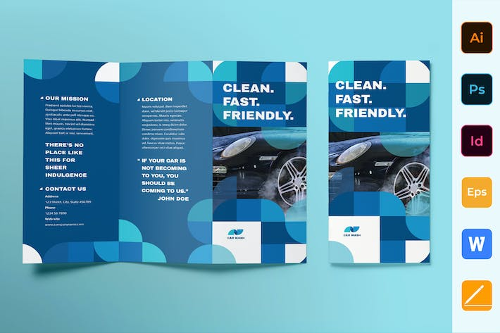 Thumbnail for Car Wash Brochure Trifold