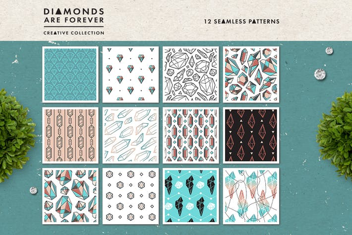 Thumbnail for Diamonds are Forever // Seamless Patterns