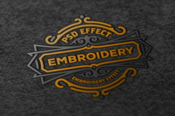 Embroidery Effect Mockup