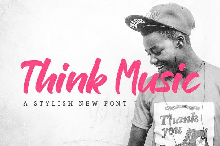 Thumbnail for Think Music Font