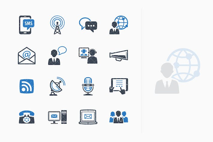 Thumbnail for Communication Icons Set 1 - Blue Series