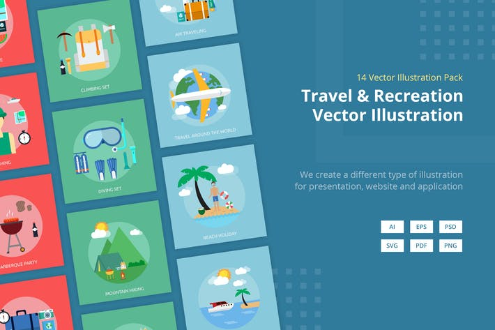Thumbnail for Travel and Recreation Vector Illustration