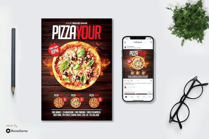 Thumbnail for Pizza - Flyer MR