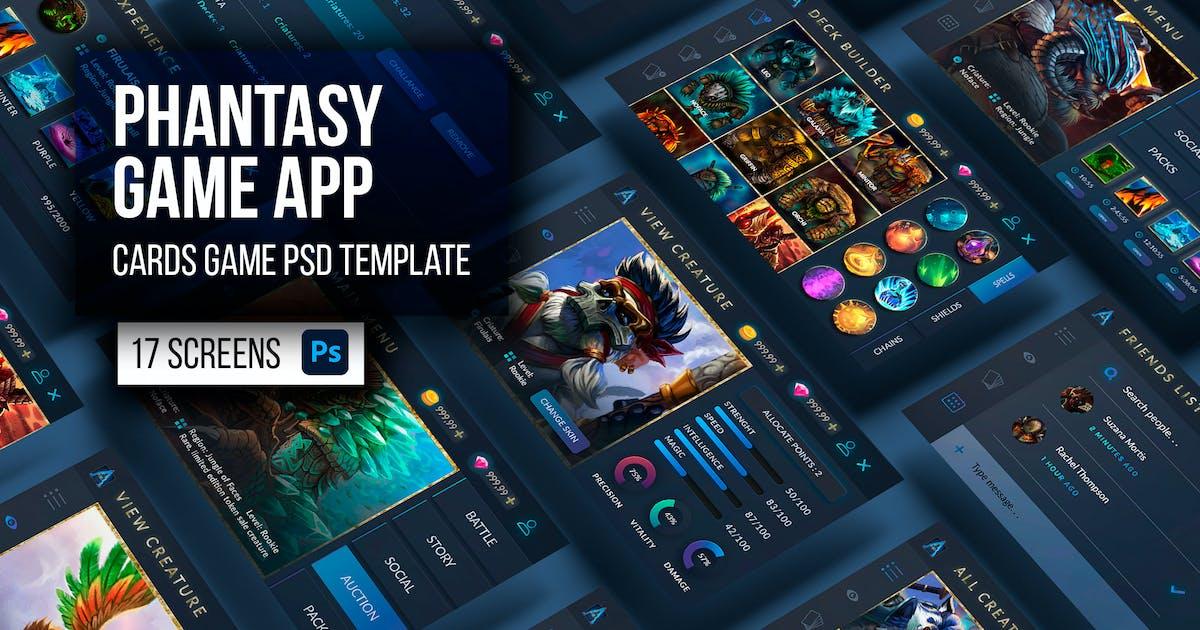 Download Phantasy Dark Cards Game App & UI Kit Template by Nagaredesignstudio