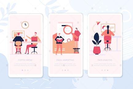 Work organization smartphone web pages